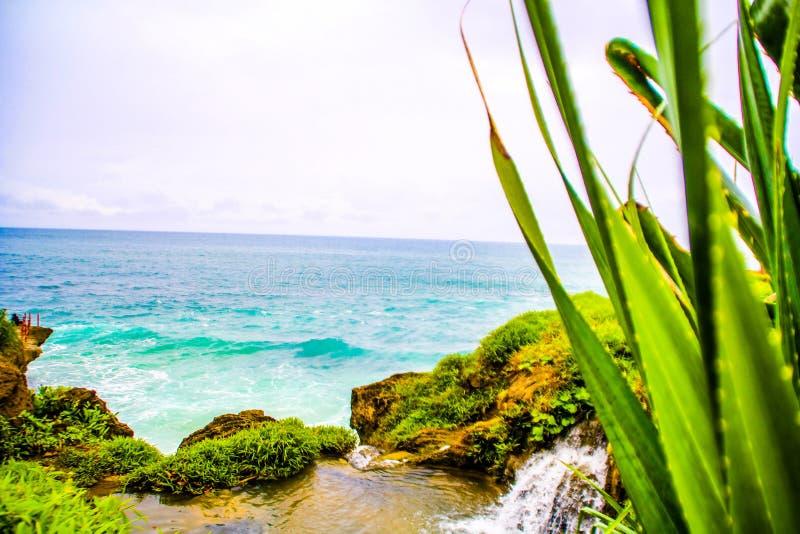 Groene en blauwe overzees stock afbeeldingen