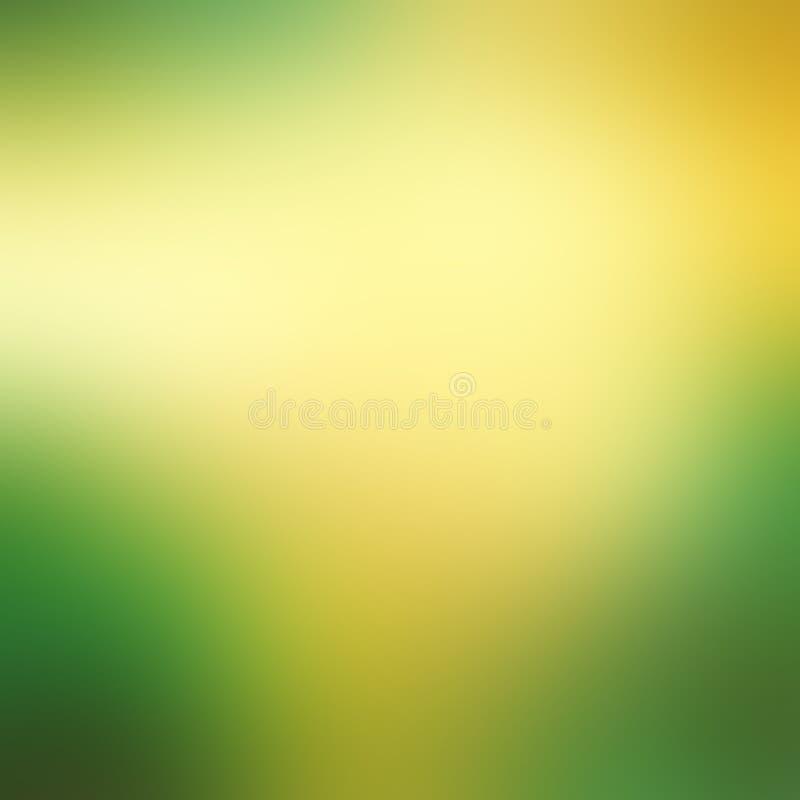 Groene en gele abstracte achtergrond stock illustratie