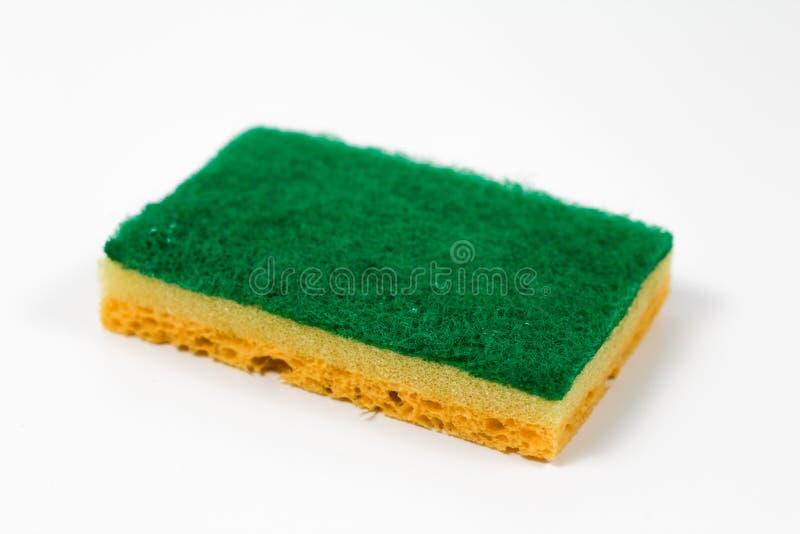 Groene en gele spons royalty-vrije stock afbeelding