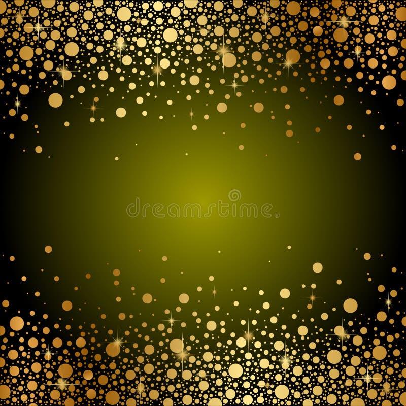 Groene en gouden luxeachtergrond stock illustratie