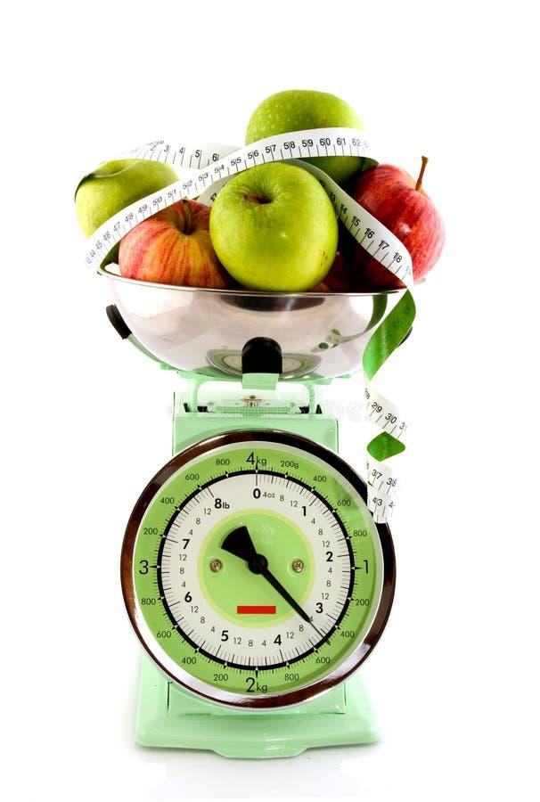 Groene en rode appelen stock afbeelding