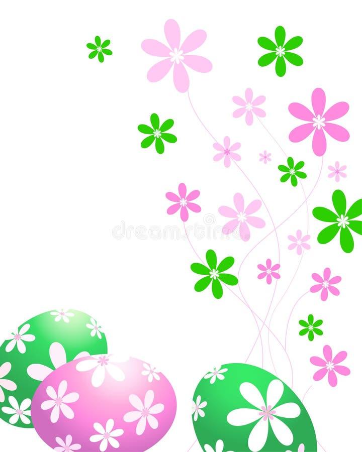Groene en roze paaseieren