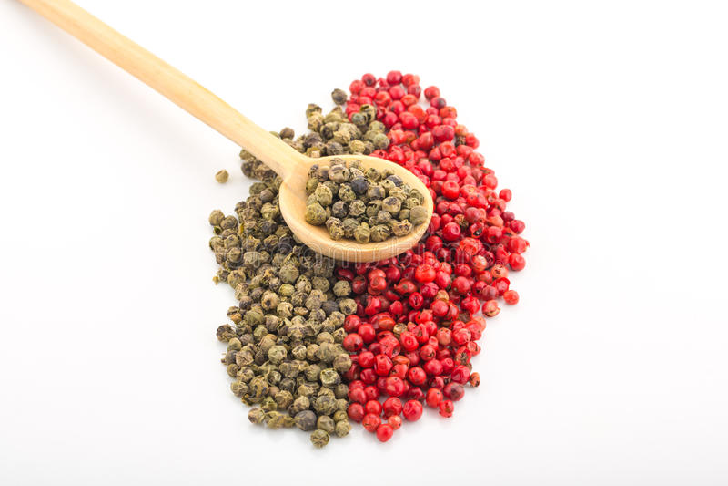 Groene en Spaanse peper stock fotografie