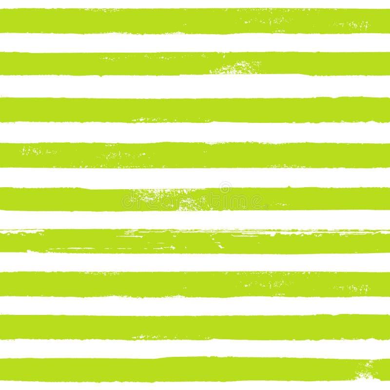 Groene en witte de textuurachtergrond van het inkt gestreepte naadloze patroon vector illustratie