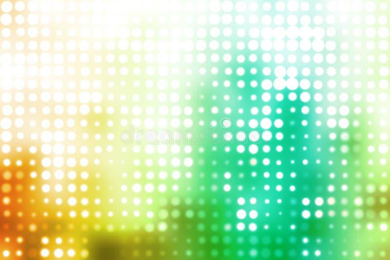 Groene en Witte Gloeiende Futuristische Achtergrond royalty-vrije illustratie
