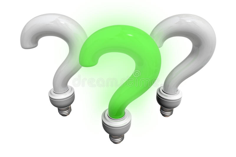 Groene en witte vraagbollen vector illustratie