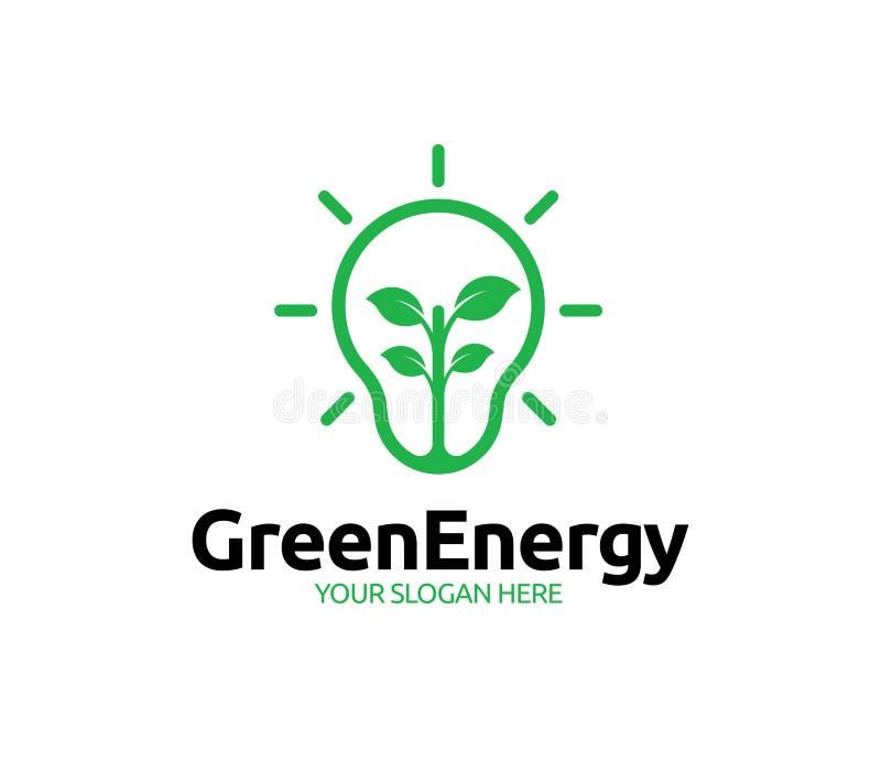Groene Energie Logo Template royalty-vrije illustratie