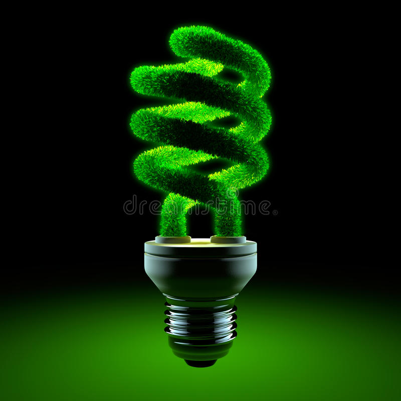 Groene energy-saving lamp royalty-vrije illustratie