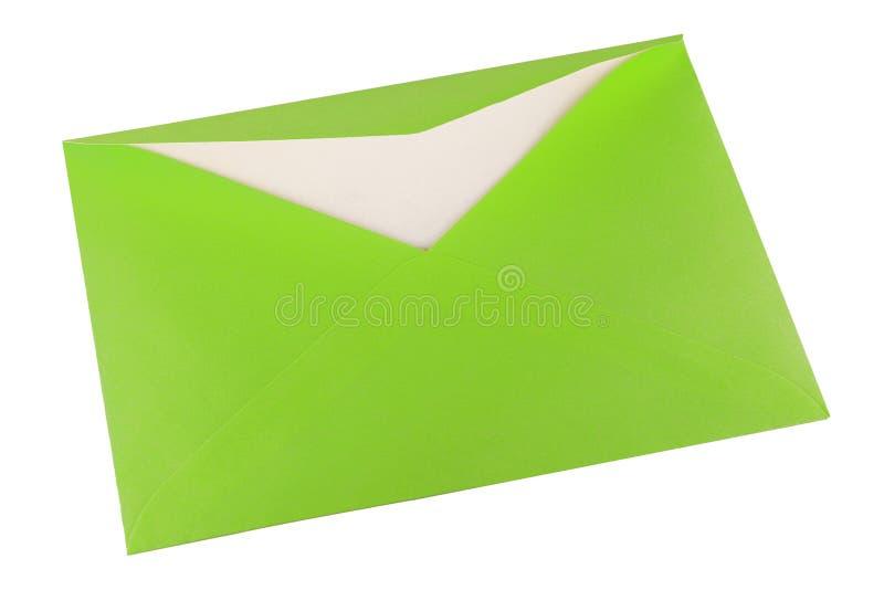 Groene envelop royalty-vrije stock afbeelding