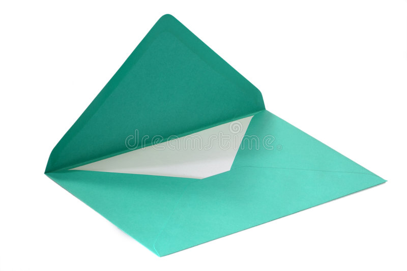 Groene envelop royalty-vrije stock foto's