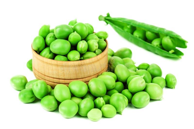 Groene erwt op wit stock fotografie