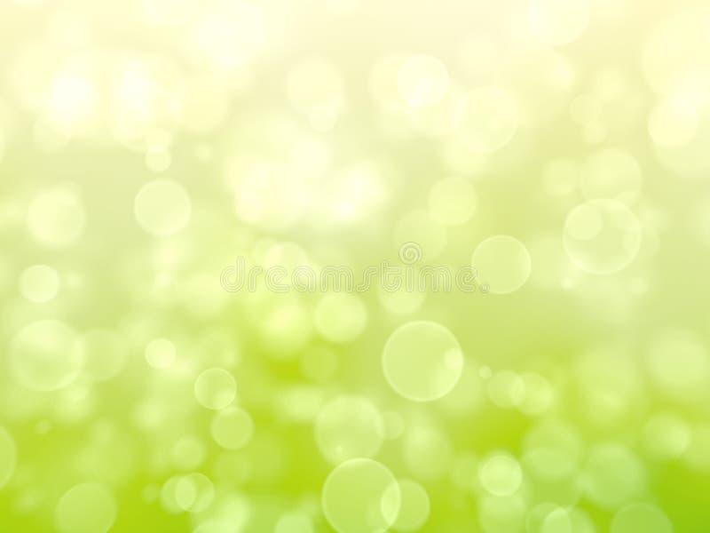 Groene Feestelijke abstracte achtergrond met bokeh royalty-vrije illustratie
