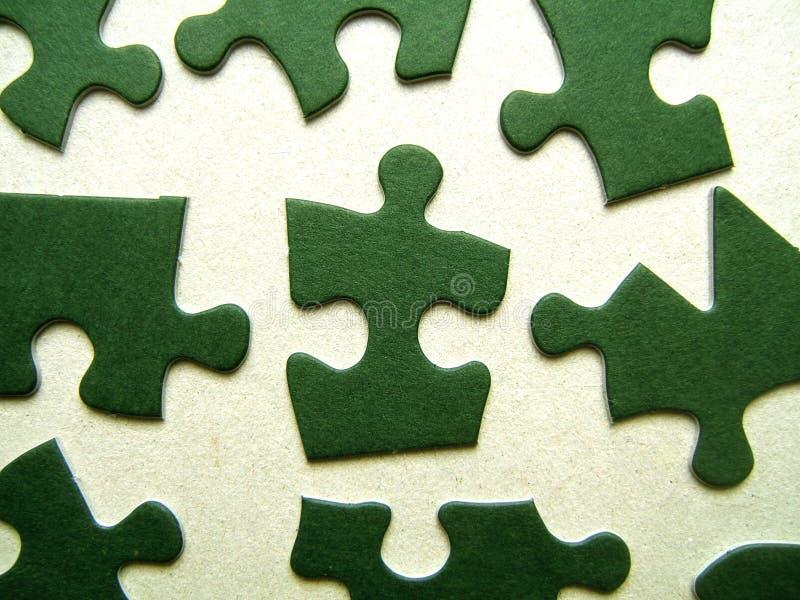 Groene figuurzaagstukken stock fotografie