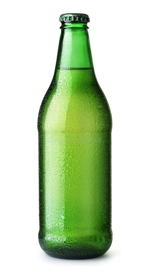 Groene fles bier royalty-vrije stock foto's