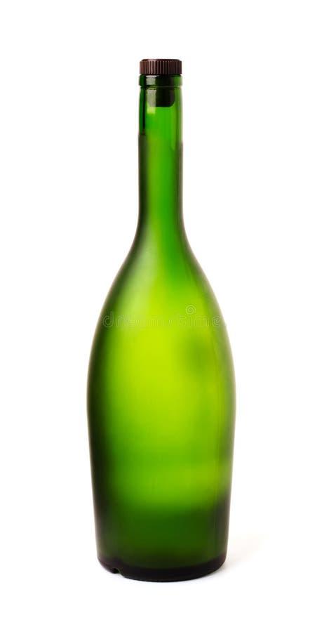Groene fles champagne royalty-vrije stock foto