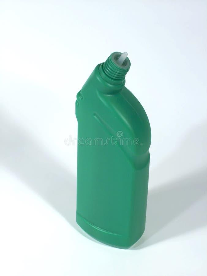 Groene fles voor het schoonmaken royalty-vrije stock afbeelding