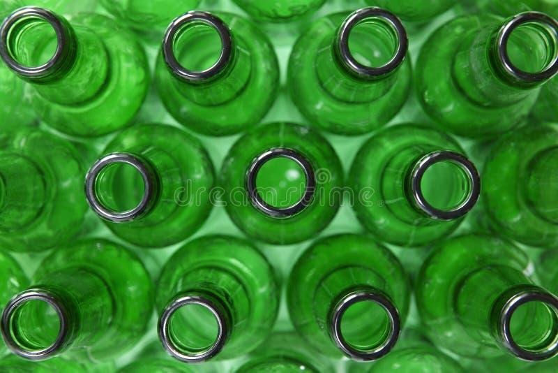 Groene Flessen stock foto's