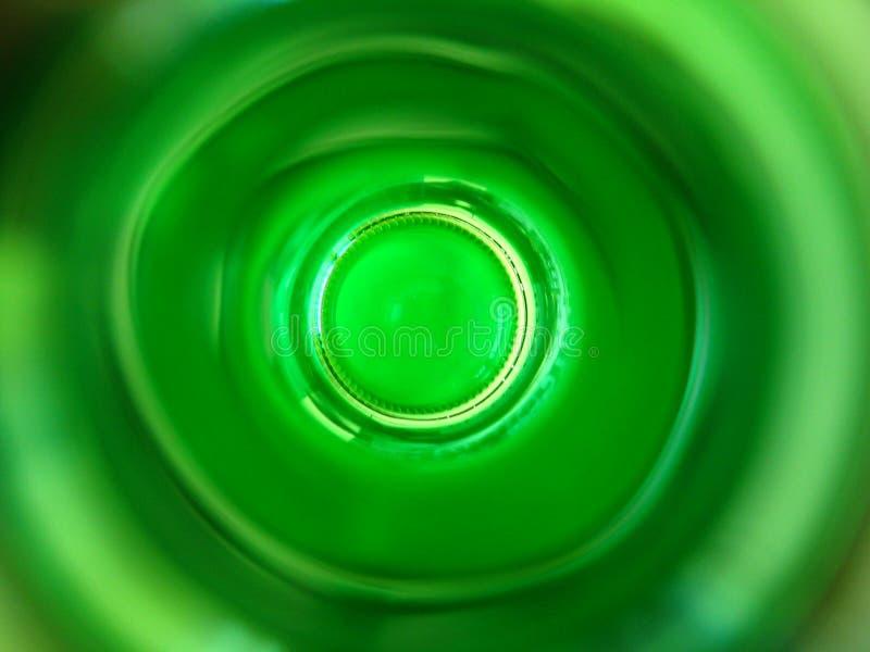 Groene flessenmening binnen royalty-vrije stock foto