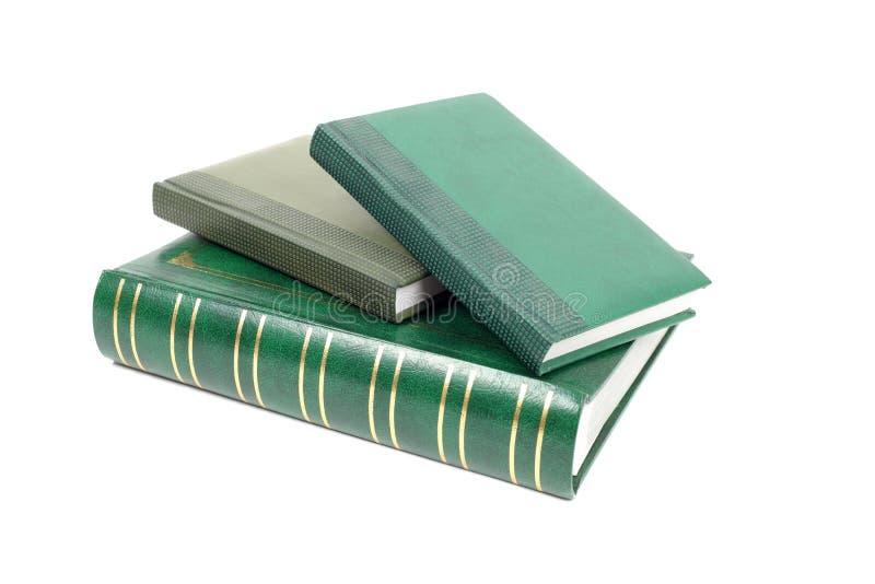 Groene foliant boekenclose-up royalty-vrije stock fotografie