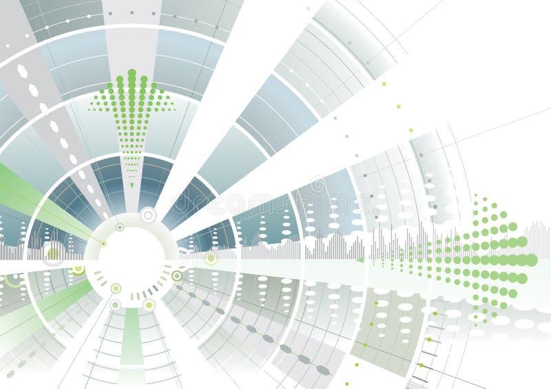 Groene futuristische pijl royalty-vrije illustratie