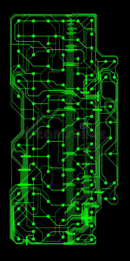 Groene geïllustreerder kringsraad vector illustratie