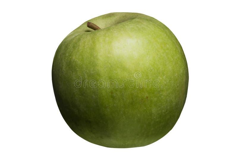 Groene geïsoleerdeu appel royalty-vrije stock foto's