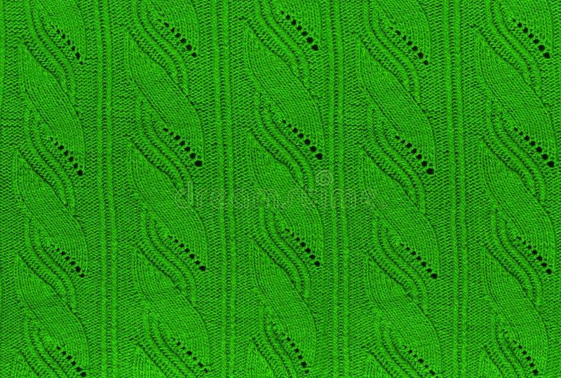 Groene gebreide achtergrond royalty-vrije stock afbeeldingen