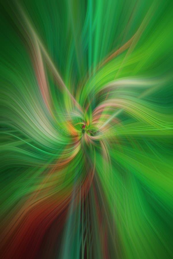 Groene gekleurde abstracte patronen Conceptenaard royalty-vrije illustratie