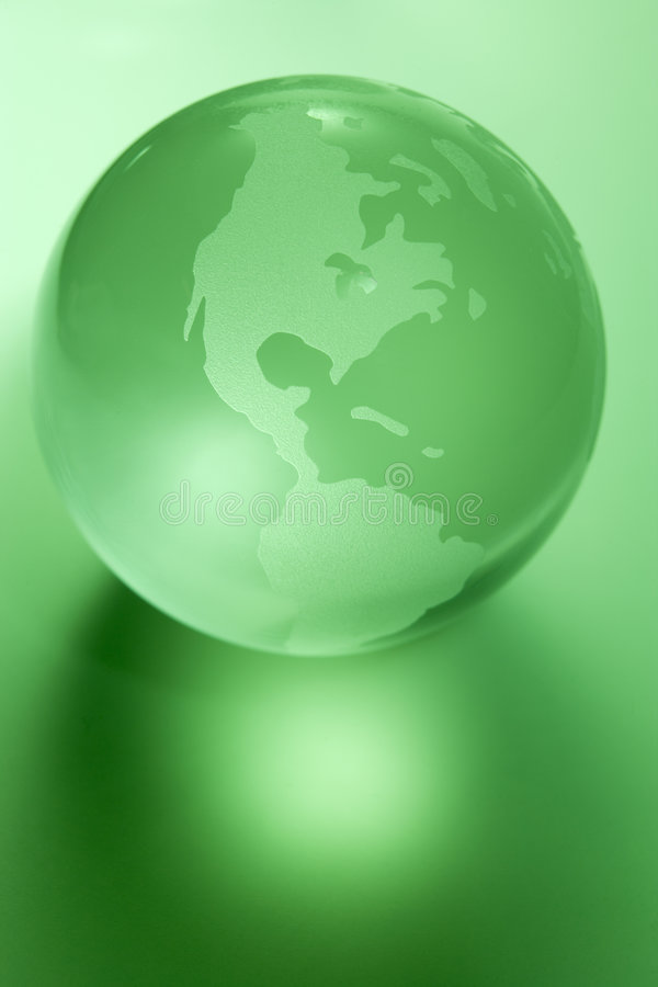 Groene Gekleurde Bol stock foto