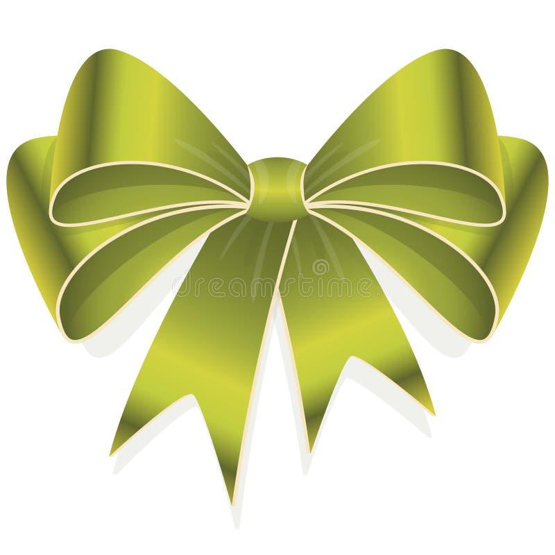 groene gekleurde lintboog royalty-vrije illustratie