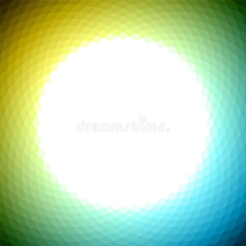 Groene gele blauwe geometrische achtergrond royalty-vrije illustratie