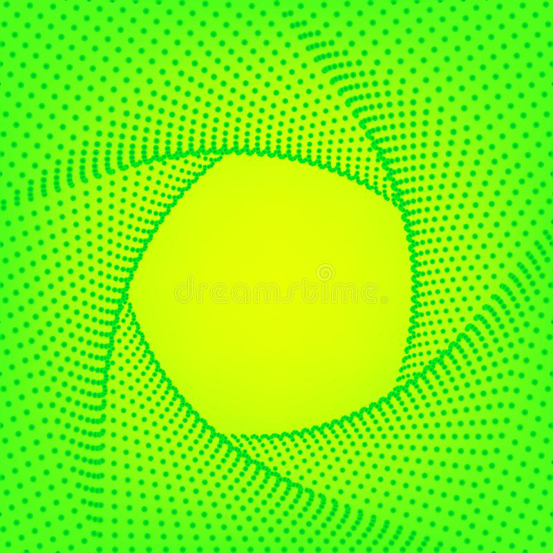 Groene gele gradiëntachtergrond Abstract geometrisch patroon, Futuristisch technologie 3D kader Heldergroen adreskaartje stock illustratie