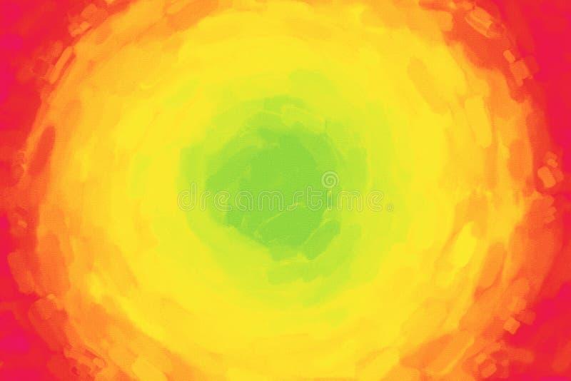 Groene Gele Rode Waterverfachtergrond stock illustratie