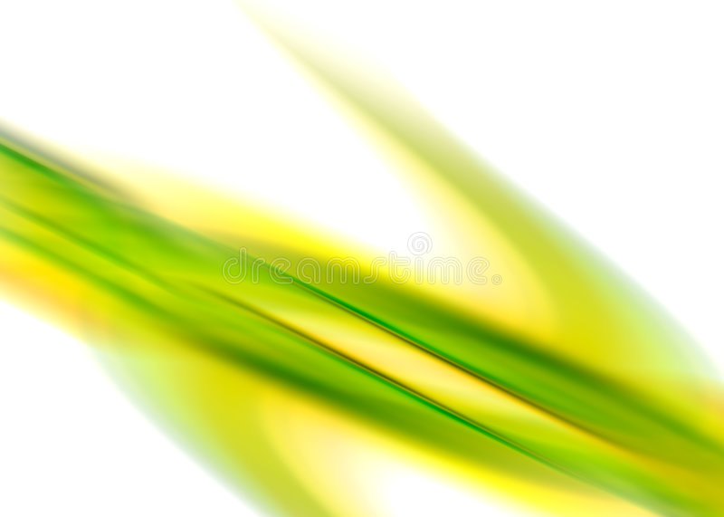 Groene gele samenvatting vector illustratie