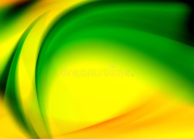 Groene gele samenvatting stock illustratie