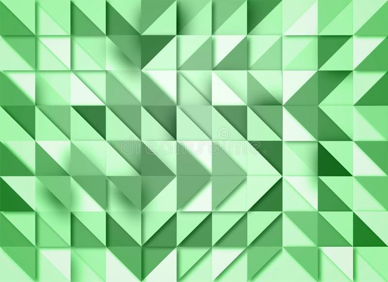Groene Geometrische Achtergrond met Mozaïekeffect vector illustratie