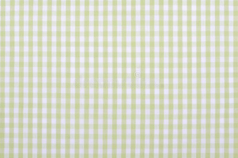 Groene geruite stof royalty-vrije stock afbeelding