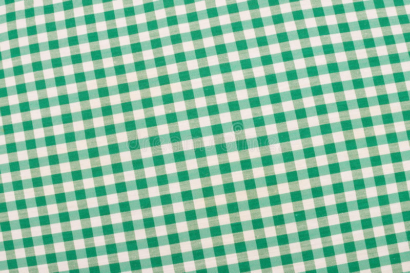 Groene geruite stof royalty-vrije stock foto