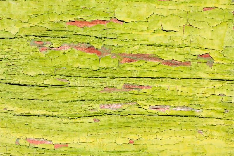 Groene geschilderde houten achtergrond stock foto