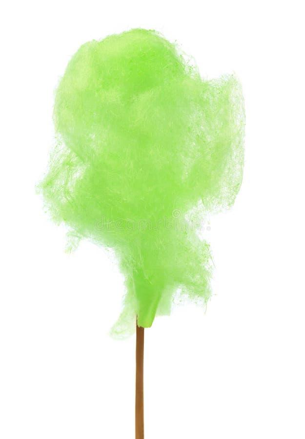 Groene gesponnen suiker stock foto's