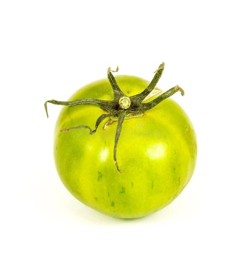 Groene Gestreepte tomaat royalty-vrije stock afbeelding