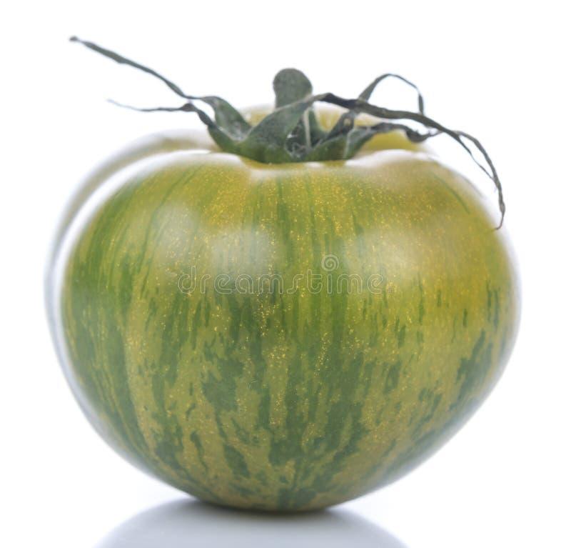Groene gestreepte tomaat stock foto's