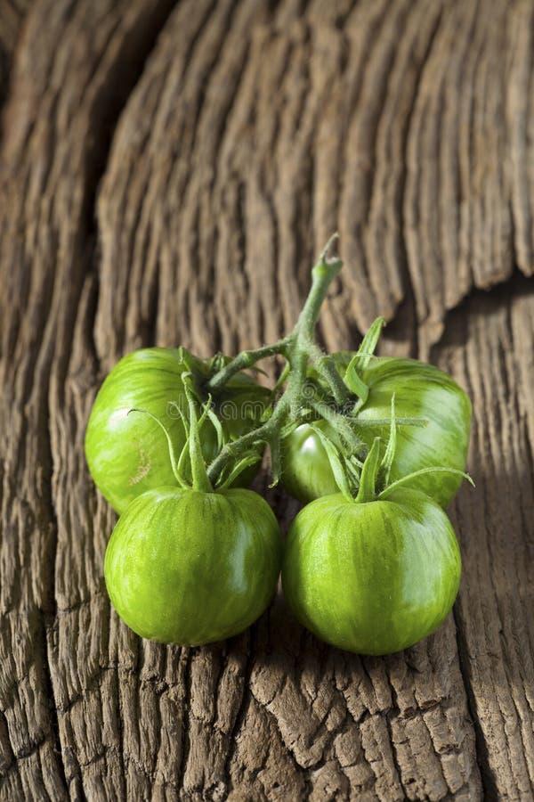 Groene Gestreepte Tomaten stock foto