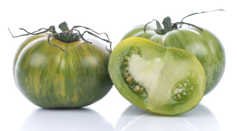Groene Gestreepte tomaten royalty-vrije stock afbeelding