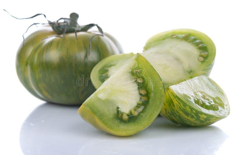 Groene Gestreepte tomaten stock afbeeldingen