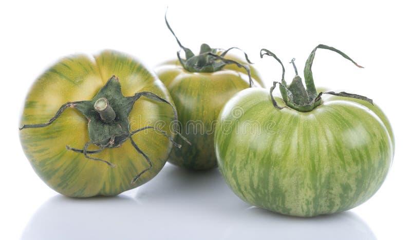 Groene Gestreepte tomaten stock afbeelding