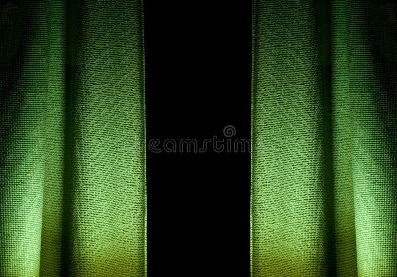Groene geweven gordijnen royalty-vrije stock foto's