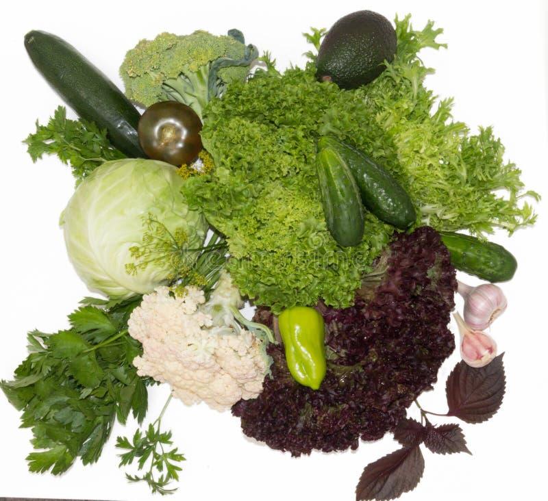 Groene gezonde groenten stock afbeeldingen