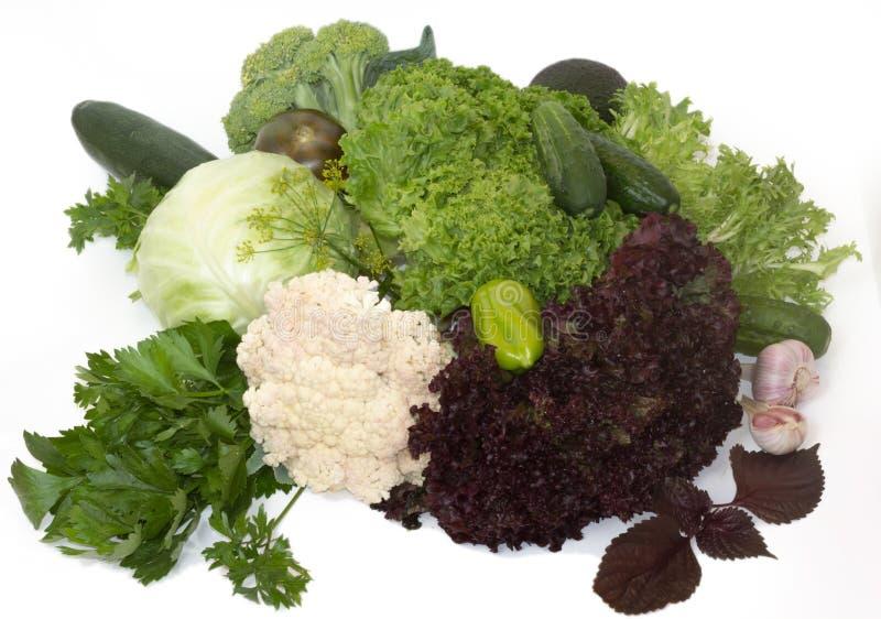Groene gezonde groenten royalty-vrije stock afbeelding