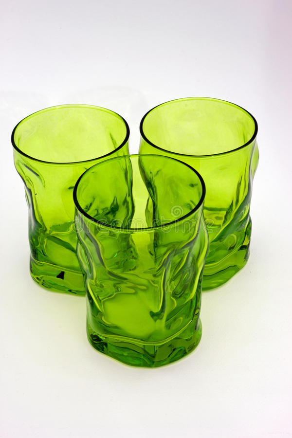 Groene glazen royalty-vrije stock foto